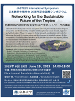 Networking for the Sustainable Future of the Tropics