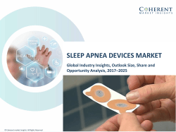 Sleep Apnea Devices Market - Industry Analysis, Size, Share, Growth, Trends and Forecast to 2025
