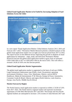 Email Application Market Estimated to Reach US$ 6,842.4 Million By 2025