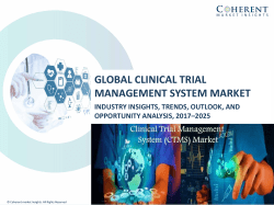 Clinical Trial Management Systems Market to Surpass US$ 1.7 Billion Threshold by 2025: CMI