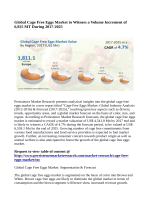 Cage Free Eggs Market Expected to Value US$ 6,559.1 Million By 2025