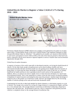 Bicycle Market Expected to Reach US$ 62.39 Billion By 2024