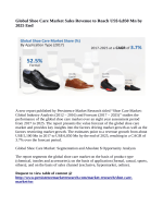 Shoe Care Market Expected to Reach US$ 6,850 Million By 2025
