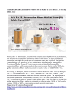 Automotive Filters Market Expected to Reach US$ 17,651.7 Million By 2025