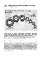 Soft Magnetic Materials Market Expected to Reach 33.708 Million Tons In Terms Of consumption By 2026