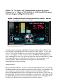 Car Electronics And Communication Accessories Market Expected To Value US$ 100.75 Billion By 2024