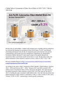 Automotive Filters Market Expected To Value US$ 17,651.7 Million By 2025