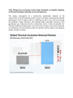 Thermal Insulation Material Market Expected To Value US$ 53 Bn By  2020