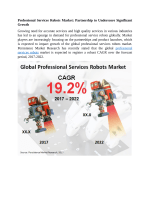 Professional Services Robots Market Expected To Value US$ 7,400 Mn By 2022