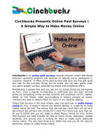 Cinchbucks Presents Online Paid Surveys | A Simple Way to Make Money Online