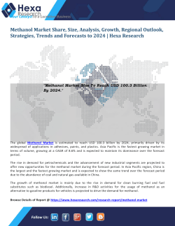 Methanol Market Size and Forecasts