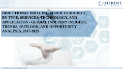 Directional Drilling Services Market, By Type, Services, Technology, and Application - Global Industry Insights, Trends, Outlook, and Opportunity Analysis, 2017-2025