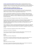 Customer Communication Management Software market