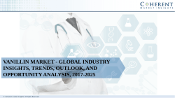Vanillin Market - Global Industry Insights, Trends, Outlook, and Opportunity Analysis, 2017-2025
