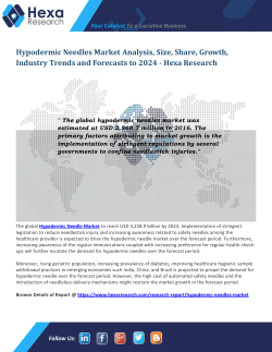 Hypodermic Needles Market SHare and Size