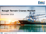 Sales of Rough Terrain Cranes Market is set to increase at over 5.9% CAGR During 2016-2026