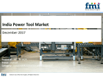 India Power Tool Market is set to increase at over  9.5%  CAGR in terms of volume During 2016-2026