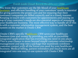 Fresh Look Cloud-Based Healthcare CRM