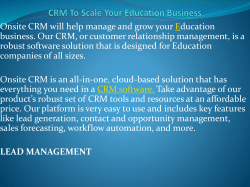 CRM To Scale Your Education Business