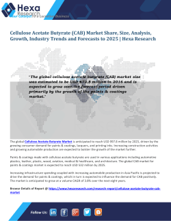 Cellulose Acetate Butyrate (CAB) Market Size