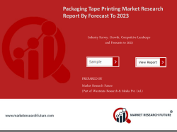 Packaging Tape Printing Market Research Report – Forecast to 2023