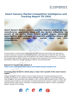 Smart Sensors Market Competitive Intelligence and Tracking Report Till 2026