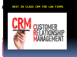 Best in Class CRM for Law Firms