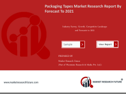 Packaging Tapes Market Research Report -Forecast to 2021