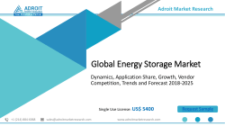 Energy Storage Market 2018-2025: Industry Analysis and Detailed Profiles of Top Industry Players