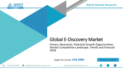 E-Discovery Market - Challenges, application, Key Vendors, Drivers and Trends by Forecast till 2025