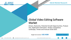 Video Editing Software Market - Quantitative Market analysis, Current Industry Trends