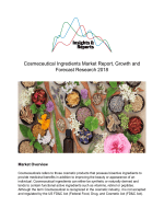 Cosmeceutical Ingredients Market Report, Growth and Forecast Research 2018