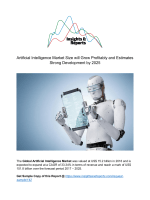 Artificial Intelligence Market Size will Grow Profitably and Estimates Strong Development by 2025
