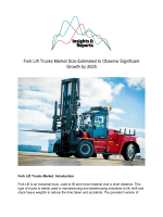 Fork Lift Trucks Market Size Estimated to Observe Significant Growth by 2025