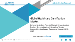 Healthcare Gamification Market Size and Share Analysis , 2018-2025 Forecasts