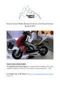 Electric Scooter Market Business Overview, Growth and Forecast Research 2018
