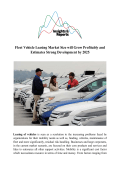 Fleet Vehicle Leasing Market Size will Grow Profitably and Estimates Strong Development by 2025