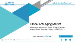 Global Anti-Aging Market -Growth, Trends and Forecast, Industry Analysis, Size, Share (2018– 2025)