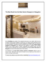 The Best Deals from the Best Interior Designers in Bangalore