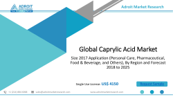 Caprylic Acid Market Size, Share and Industry Forecast Report 2025