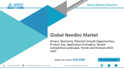 Global Needles Market Size, Share, Trends , Industry Price Report 2025
