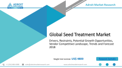 Seed Treatment Market Showing 11.2% CAGR Growth to 2025