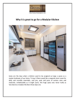 Why it is great to go for a Modular Kitchen