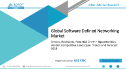 Software Defined Networking Market – SDN Industry Size & Forecast 2018-2025