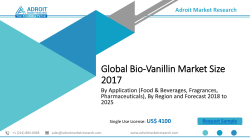 Global Bio-Vanillin Market 2018: Applications, Market Share, Size, Strategies, and Forecasts 2025