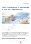Sleeping Aids Market Moving Toward 2026 With New Procedures