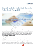 Disposable Insulin Pen Market Revenue Growth Predicted by 2026