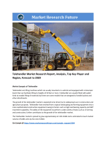 Telehandler Market Research Report – Forecast to 2020