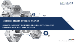 Women's Health Products Market 2019 Witnessing Four Fold Growth by 2026