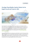 Oncology Drug Pipeline Analysis Market Is Thriving According To New Report: Opportunities Rise For Stakeholders By 2026